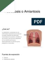 Asbestosis o Amiantosis