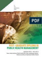 Post Graduate Diploma in Public Health Management