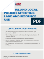 Policies Affecting Land and Resource Use
