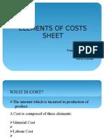 Costs Sheet