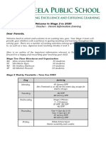 parent information notes 2020