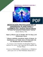 MEDITACIÓN PROTECCIÓN DE LA JERARQUÍA PLANETARIA Y CÓSMICA Por Joshua David Stone