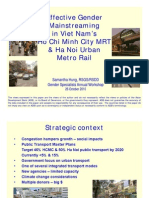 Effective Gender Mainstreaming in Viet Nam's Ho Chi Minh City MRT & Ha Noi Urban Metro Rail