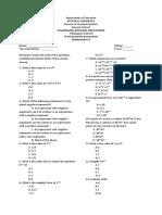 third periodical exam mat 9