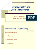Crystallography and Crystal Structures
