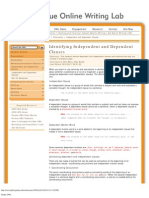 Identifying Independent and Dependent Clauses - Purdue OWL