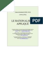 Bachelard Le rationalisme_applique