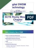 SCTE Rocky Mountain Chapter DWDM