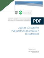 Registro publico de la propiedad y comercio