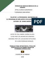 Rmn en El Programa de Implantes Cocleares Cubano