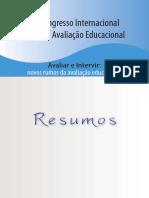 livro_resumo do V CONGRESSO INTERNACIONAL DE AV.ED.