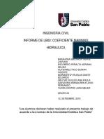 Copia de INFORME LB02-COEFICIENTE MANNING-DUWAN