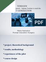 TENEGEN – Networking Environment – helping TEachers to reach the NET GENeration
