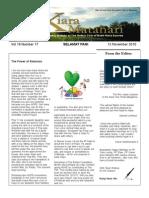 RCBKS Bulletin Vol 19 No 17