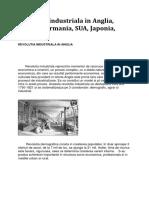 revolutia industriala in Anglia, Franta,SUA,Japonia