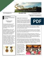 RCBKS Bulletin Vol 19 No 18
