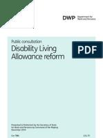 DLA Reform Consultation