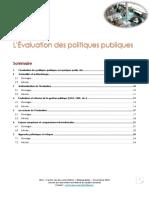 Evaluation Politiques Publiques Sf