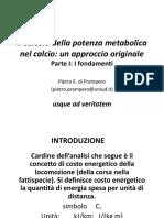 Il calcolo della potenza metabolica  - Prampero