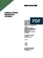 Surfaceb Finish Meterology Tutorial