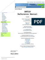 ANTLR Reference Manual