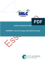 BSBINN601 - Lead and Manage Organisational Change