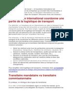 LE ROLE DE TRANSITAIRE