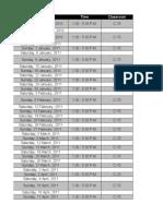Schedule - CFA Level I