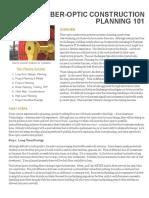 Fiber-Optic Construction Planning 101