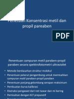 Penetuan Konsentrasi metil dan propil pareaben