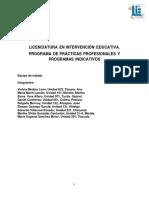 Programa general e indicativos de Praìcticas profesionales.