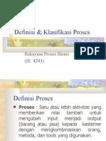 Definisi & Klasifikasi Proses