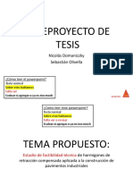 [BORRADOR] Anteproyecto de tesis - Hormigones de retracción compensada aplicado a pisos industriales