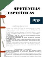 COMPETENCIAS ESPECÍFICAS Com a Parte Diversificada
