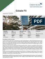 Relatorio CSHG Real Estate FII 2020 01