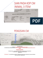 PENGISIAN PADA KOP CM MINIMAL 3 ITEM