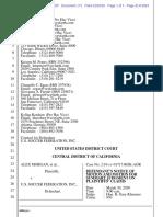 USSF Summary Judgment Motion