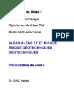 Présentation 1 Aléas et risques geotechnique