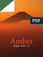 Amber Rights Catalog 2020-21
