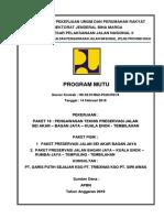 COVER PROGRAM MUTU  RIAU 2019