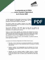 Motion FDSEA Et JA Nièvre Menus Végétariens 21 Fev 2020