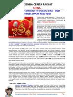 LEGENDA CHINA - SEJARAH DAN MITOLOGY TAHUN BARU CHINA - IMLEK - LUNAR NEW YEAR