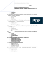 Examen 1 estructura socioeconomica de mexico