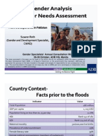 Gender Analysis Disaster Needs Assessment