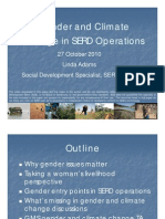 Gender and Climate Change in SERD Operations