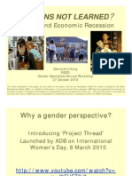 Lessons not Learned? Gender and Economic Recession