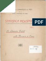 Statistica industriale Parte I Industrie tessili in provincia di Cuneo 1909