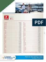 Tarifs Parkings Aéroport de Bordeaux_février 2019