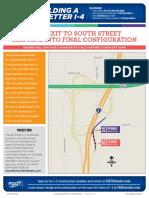 EB I4- South St Exit -Handout