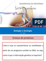 02 Biossintese de proteinas e mutações